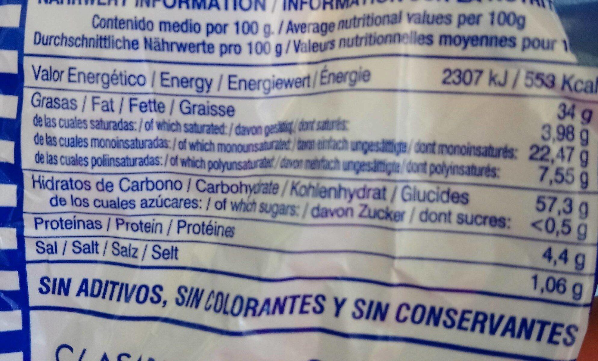 Papas garcia - Nutrition facts - en