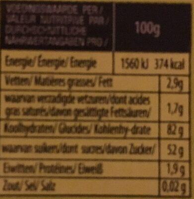 Sour strips - Informations nutritionnelles
