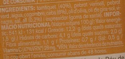 Gaspatxo - Ingredients - ca