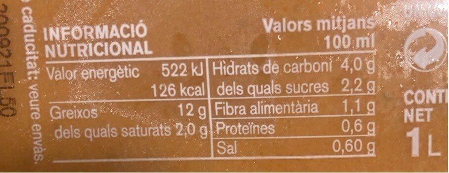 Gaspatxo - Informació nutricional - ca