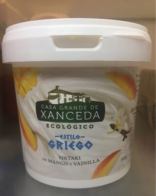 Yogur ecologico estilo griego mango y vainilla - Produit