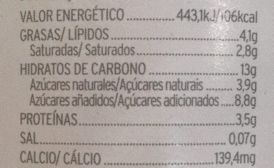 Yogur ecologico estilo griego mango y vainilla - Informations nutritionnelles