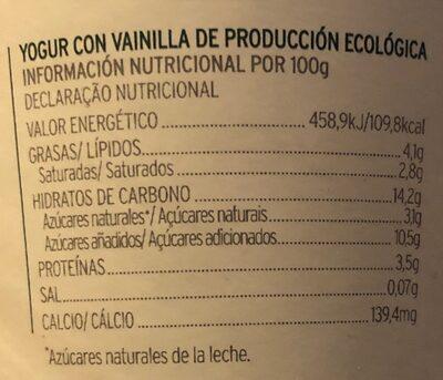 Sirtaki fe vainilla - Informations nutritionnelles - es