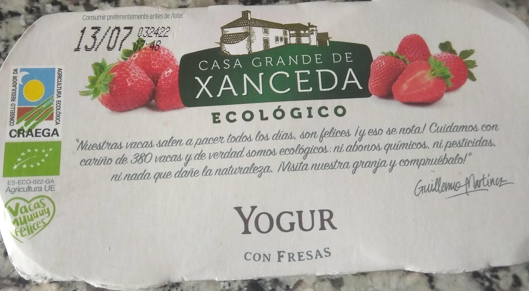 Yogur con fresas - Producto - es