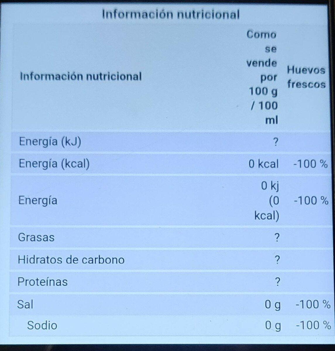 Huevos Hobea - Nutrition facts - es