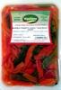 Bandeja de pimiento asado tiras rojo y verde - Produit