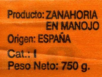 Zanahorias - Ingredientes