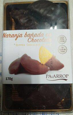 Naranja bañada de chocolate
