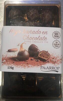 Higo bañado en chocolate