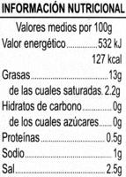 Aceitunas negras deshuesadas - Nutrition facts