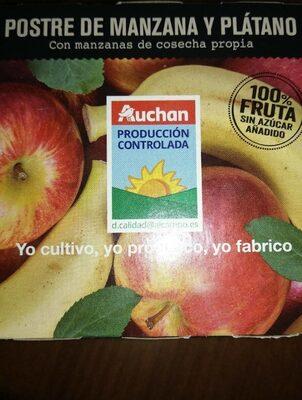 Postre de manzana y plátano
