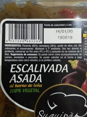 Escalivada asada - Ingredients
