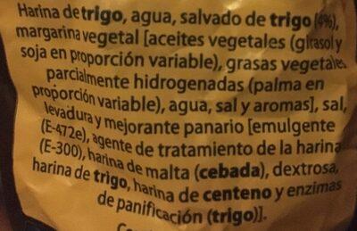Piquitos Salvado - Ingredientes - es