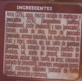 Arroz a banda microondas - Ingredients - es