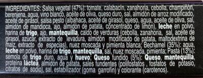 Lasaña vegetal - Ingrediënten - es