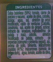 Macarones Boloñesa - Ingredients