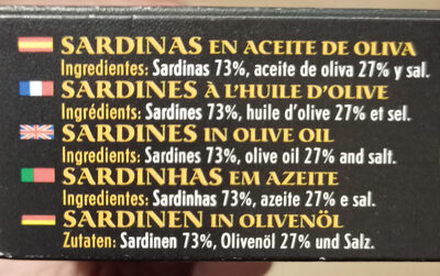 Sardinillas en aceite de oliva - Ingredients - es
