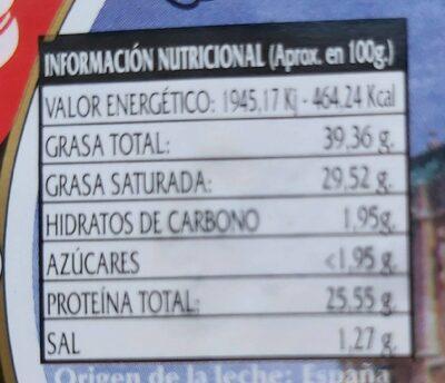 Queso de oveja Sasamon - Nutrition facts - es