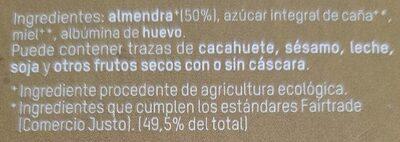 Turrón blando de almendra - Ingredientes - es