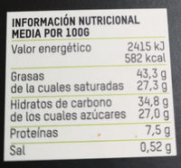 Chocolate negro 70% sal bio - Nutrition facts