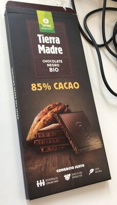 Tierra Madre chocolate ecológico negro 85% - Product - en