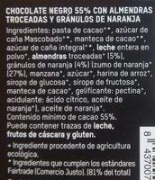Tierra Madre chocolate 55% cacao - Ingredientes - es