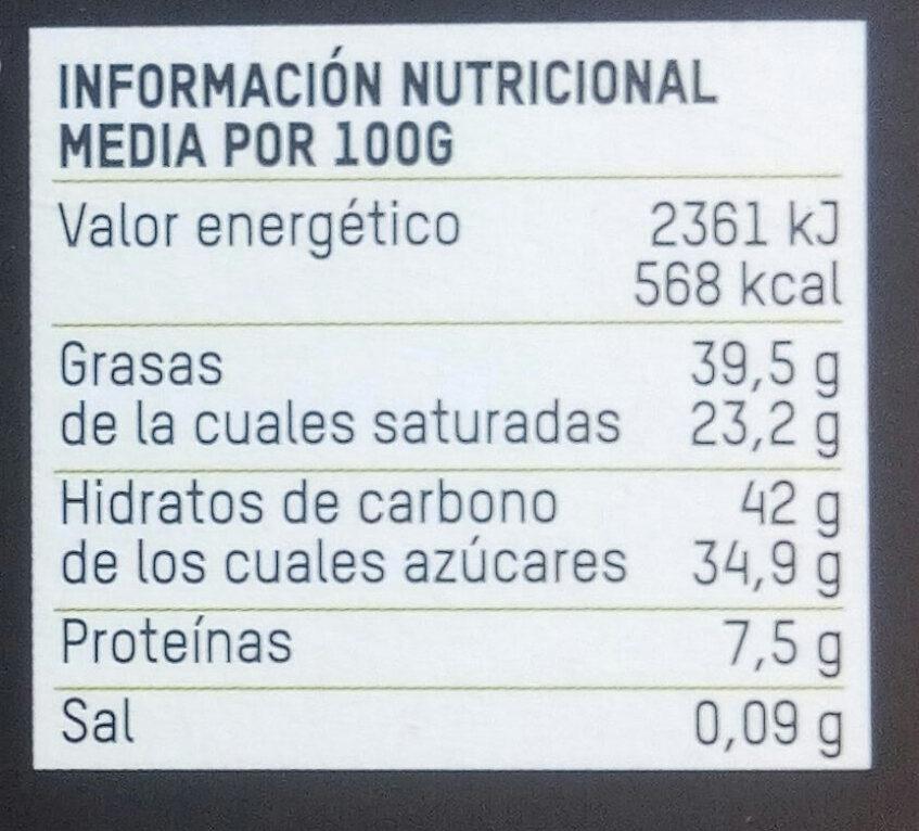 Tierra Madre chocolate 55% cacao - Información nutricional - es