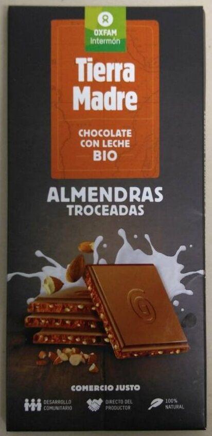 Chocolate con leche bio Almendras troceadas - Producto - es