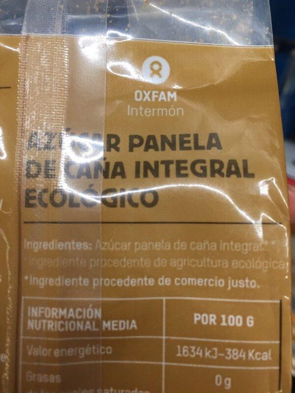Azúcar de caña integral - Información nutricional - es