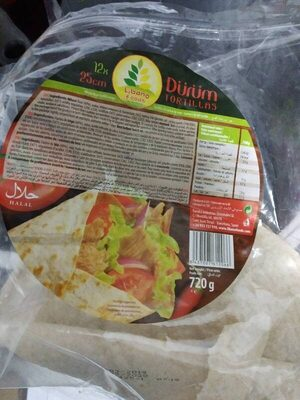 Durum tortillas