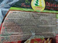 Durum tortillas - Ingredienti - es