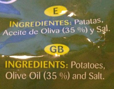 Patatas fritas aceite oliva - Ingredientes