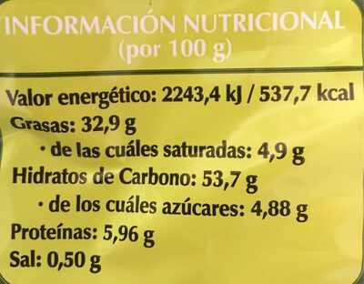 Patatas fritas aceite oliva - Información nutricional - es