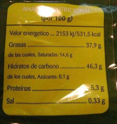 Patatas fritas Martirelo - Nutrition facts