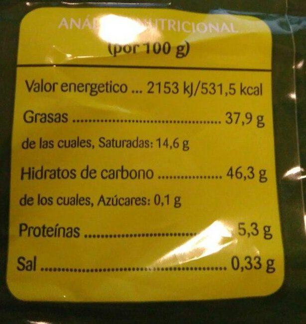 Patatas fritas Martirelo - Nutrition facts