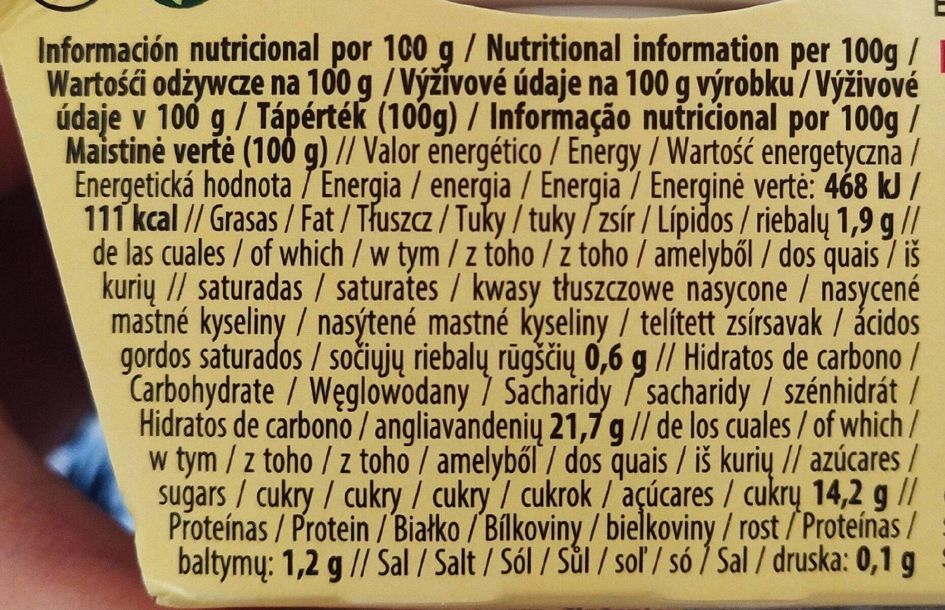 Yogurt de Arroz Cacao - Nutrition facts - es