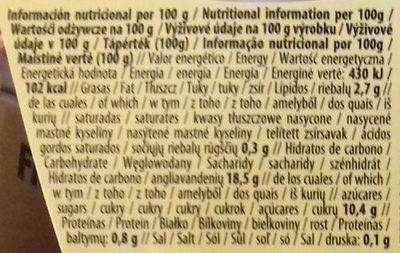 Arroz vainilla - Informació nutricional
