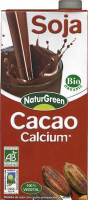 """Bebida de soja ecológica """"NaturGreen"""" con cacao y calcio - Produit"""
