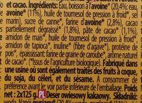 Epicerie / Spécialités Végétaliennes / Desserts Végétaux - Ingredientes