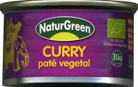 "Paté vegetal ecológico ""NaturGreen"" Curry - Producto"