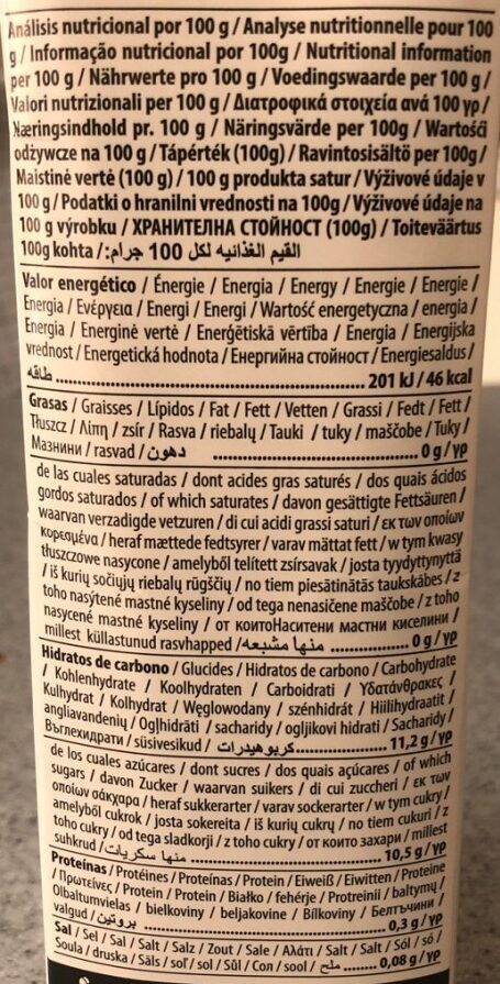 Zumo manzana - Nutrition facts - en
