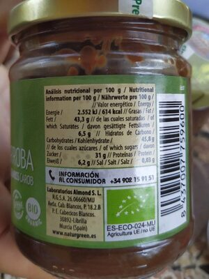 Crema avellanas algarroba - Voedigswaarden