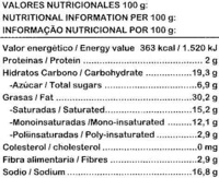 Caldo de verduras - Nutrition facts - es