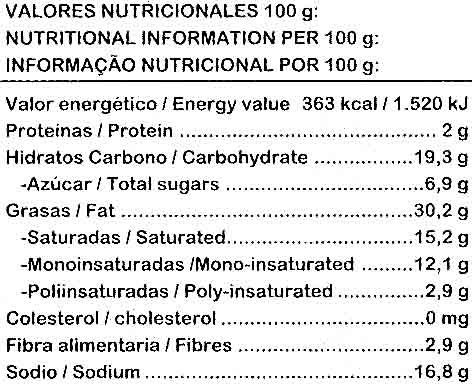 Caldo de verduras - Voedingswaarden - es
