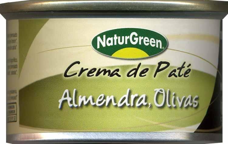 Crema de paté almendras, olivas - Product