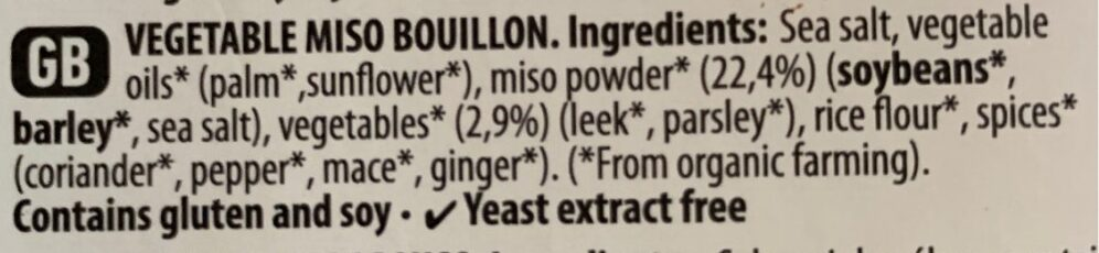 Caldo de miso - Ingredients - en