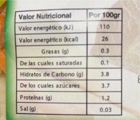 Sopa Juliana - Nutrition facts - es