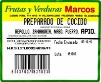Mezcla de verduras y hortalizas para cocido - Ingredients