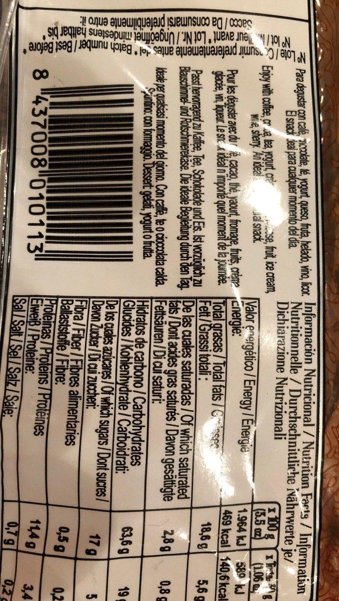 Tortas De Canela Y Limon - Nutrition facts - fr