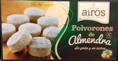 Polvorones de almendra sin gluten y sin lactosa - Producte